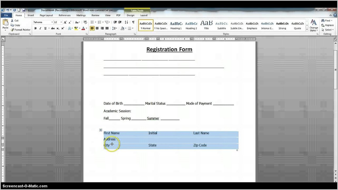 How To Create Fillable Pdf Forms In Word 2007