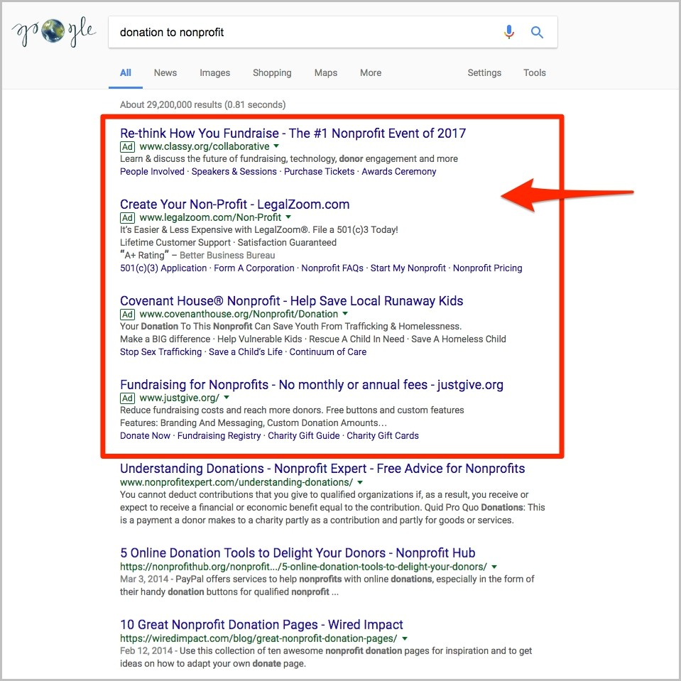 Marketing For Nonprofit Organizations: Google Ad Grants | Patrick Siki With Corporation Bureau Search