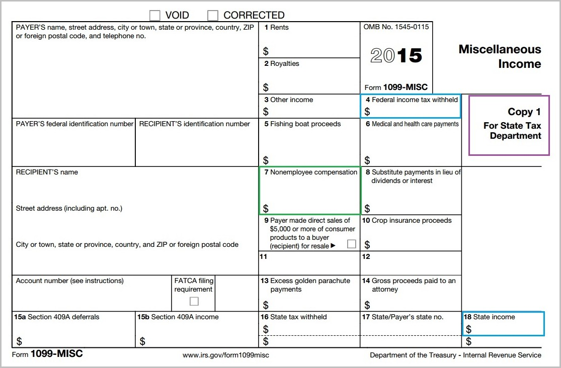 Irs 1099 Form 2015 Download