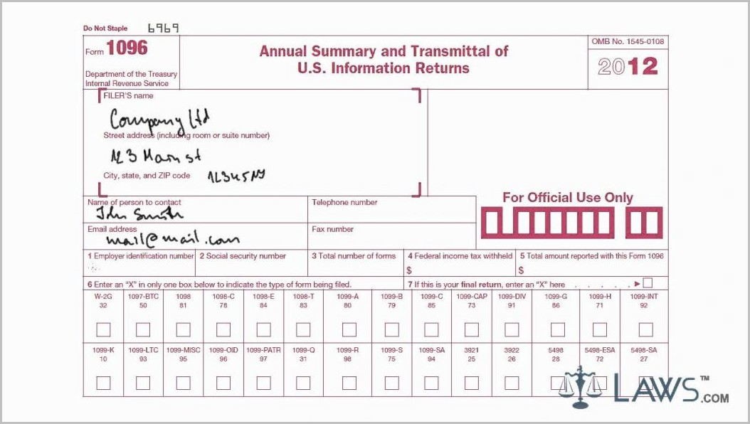 Irs 1099 Form Instructions 2015