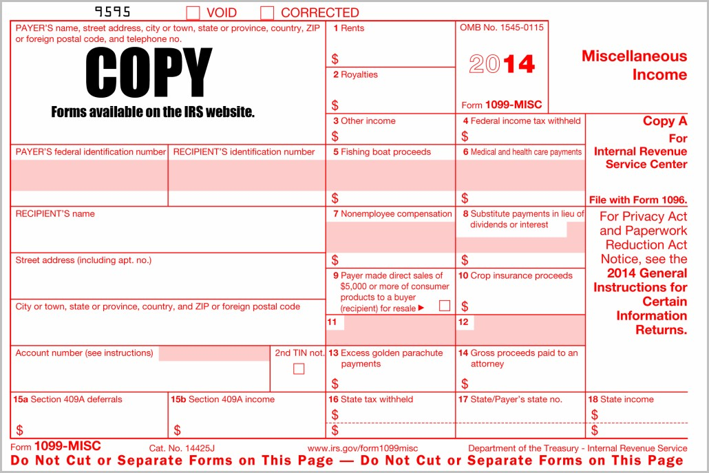Irs 1099 Forms 2014