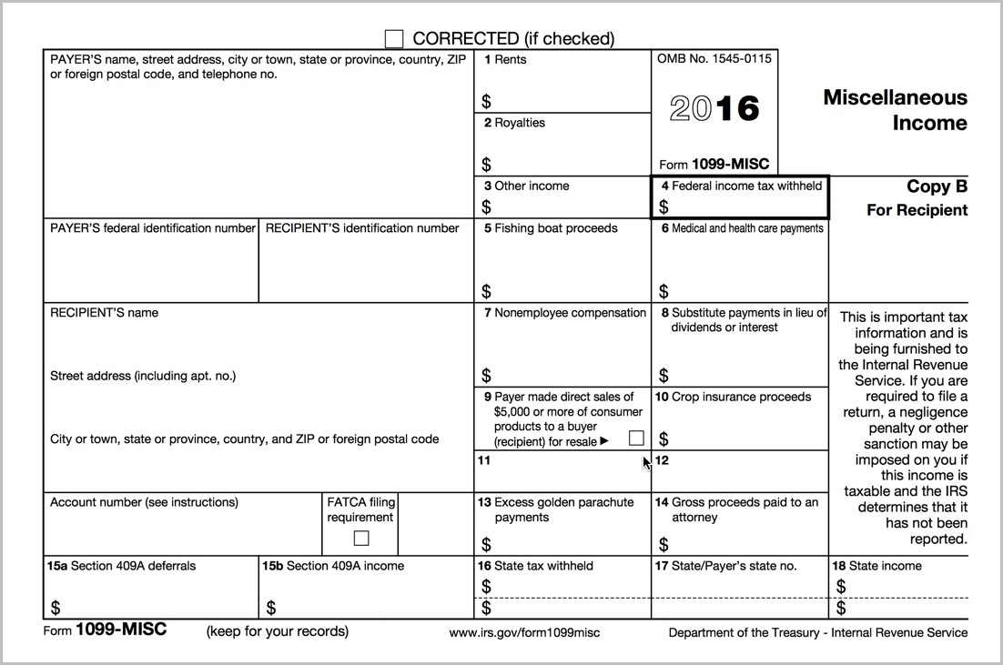 Irs 1099 Forms