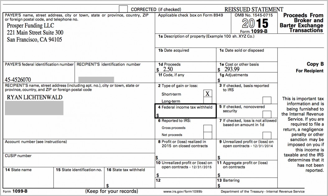 Irs Form 1099 B Deadline