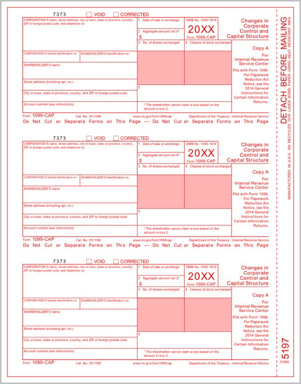 Irs Form 1099 Cap