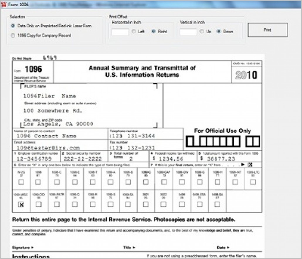 Irs Form 1099 Electronic Filing Requirements
