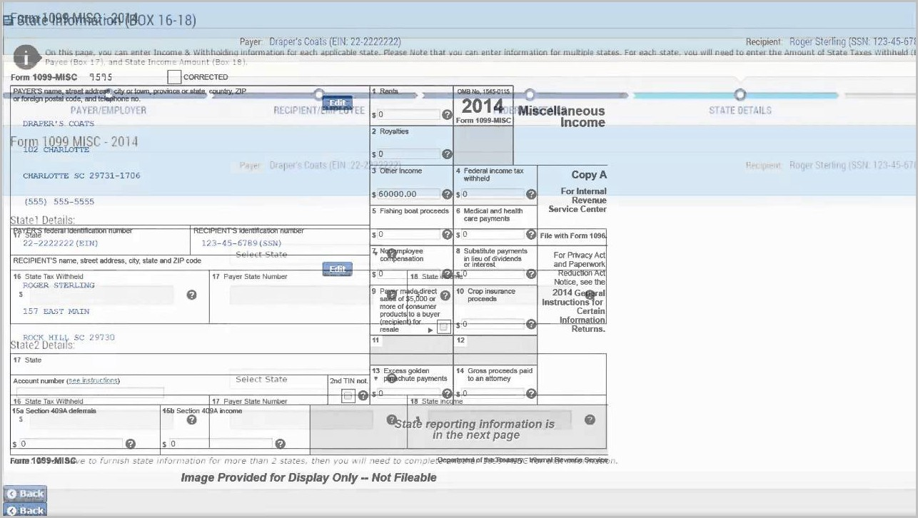 Irs Form 1099 Electronic Filing