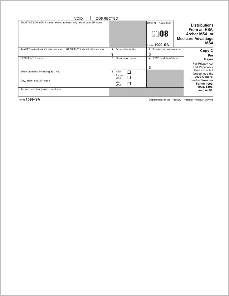 Irs Form 1099 Hsa