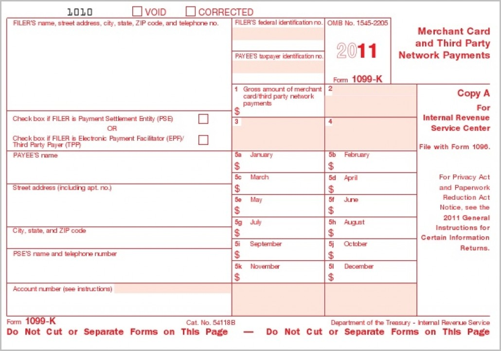 Irs Form 1099 K Instructions