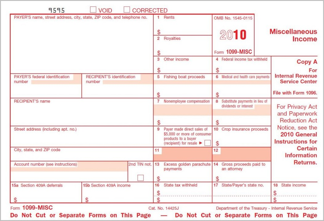 Irs Form 1099 Reporting Update