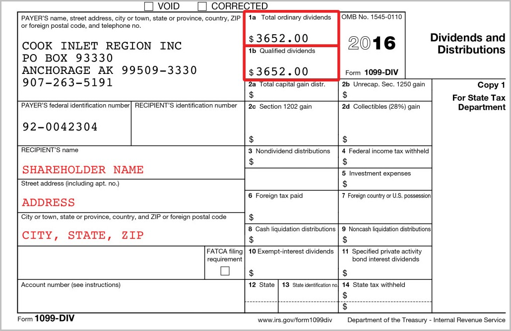 Irs Forms 1099 Div