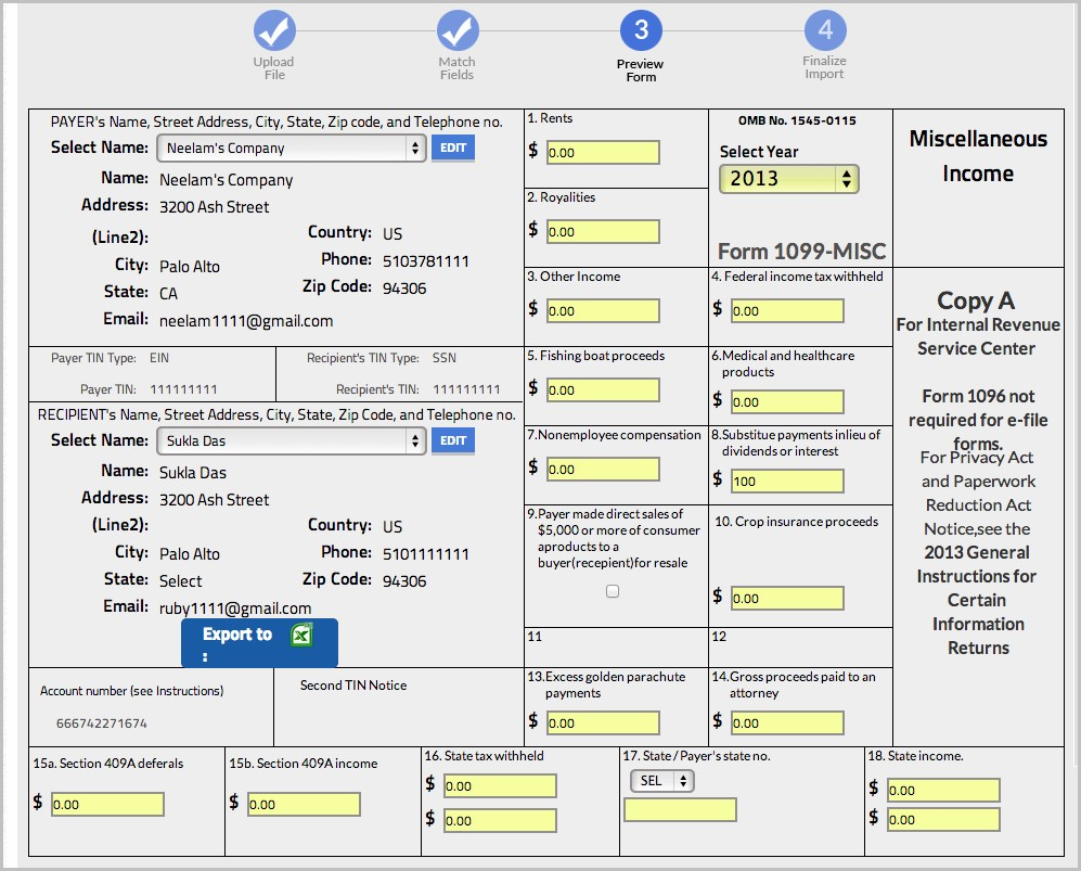 Irs Forms 1099 Misc 2013