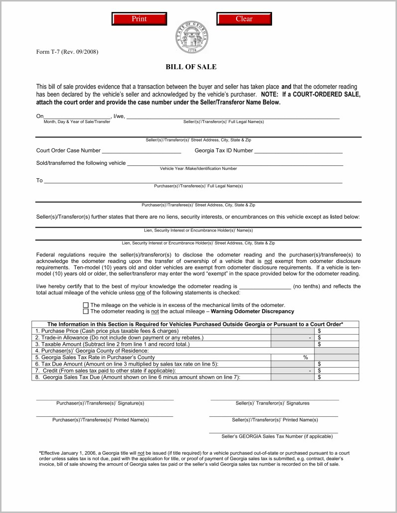 Lien Holder Release Form Ga