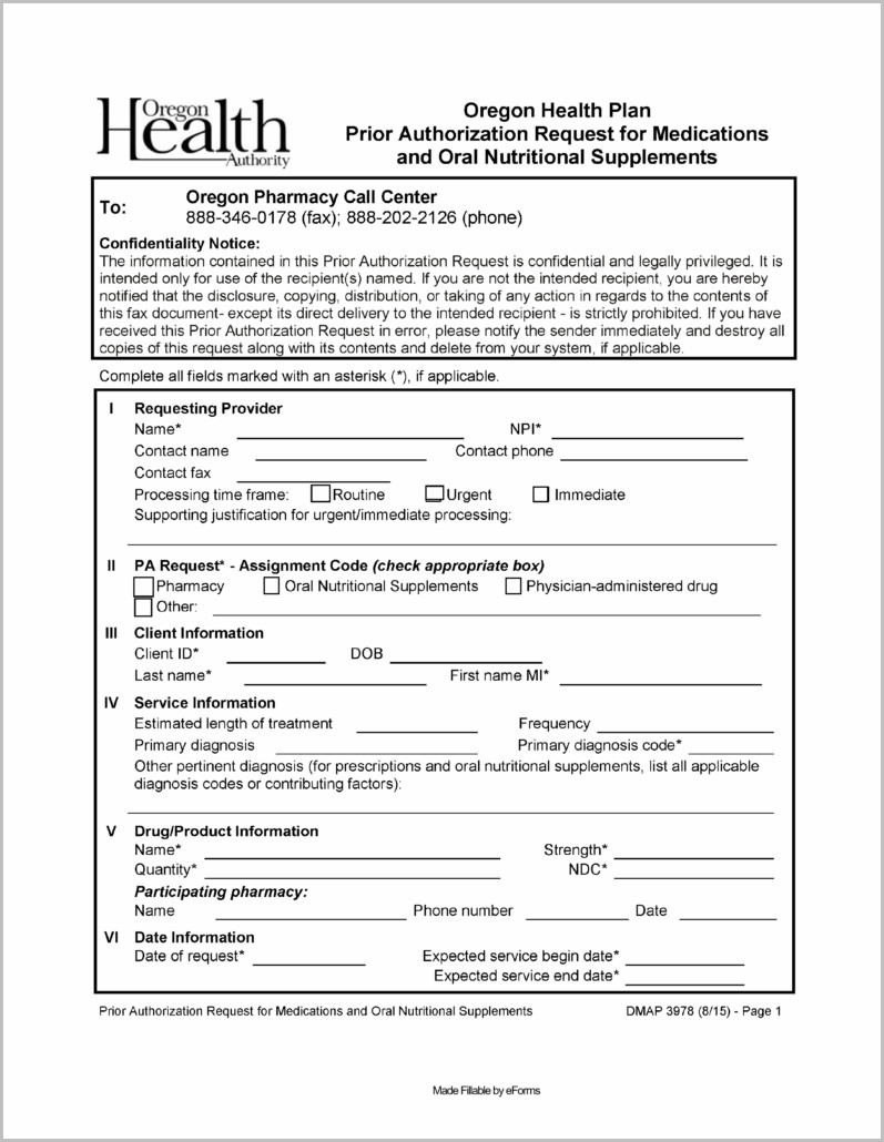 Medicaid Application Form Oregon
