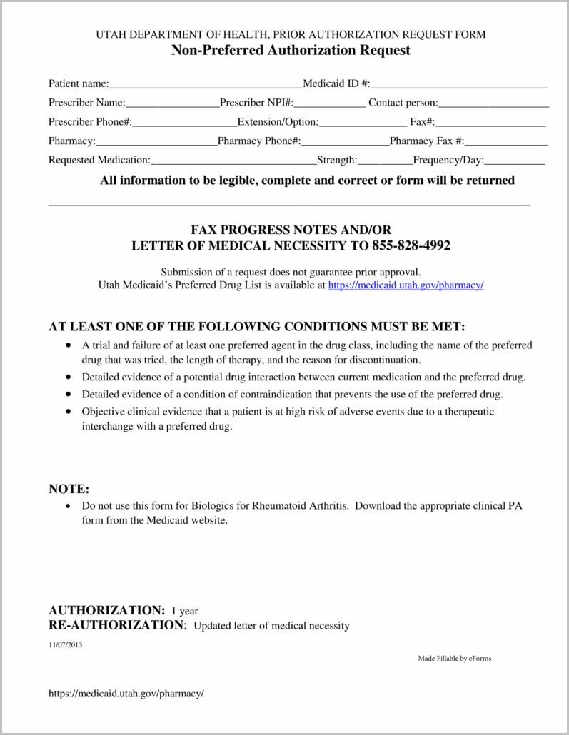 Medicaid Application Form Utah