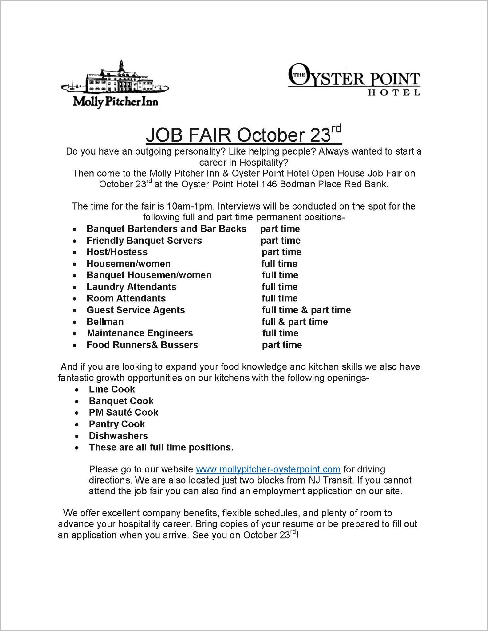 Nj Transit Job Fair