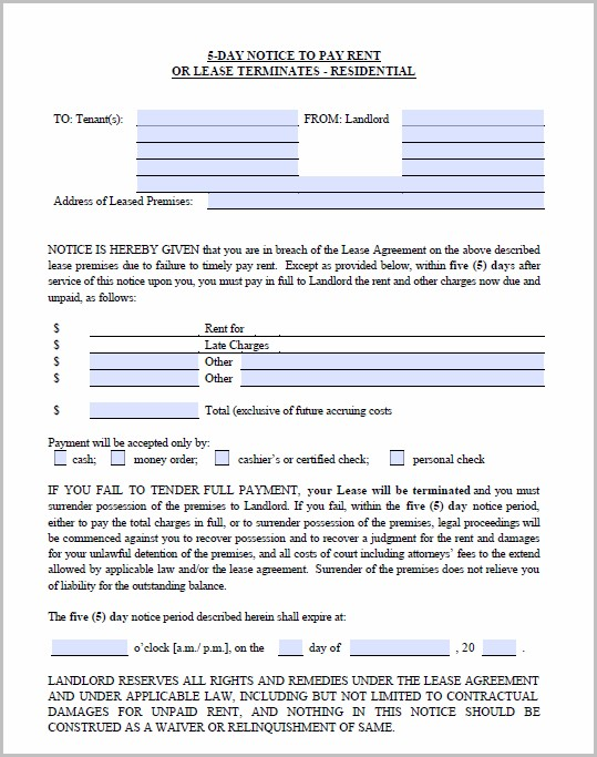 Notice To Vacate Form Alabama