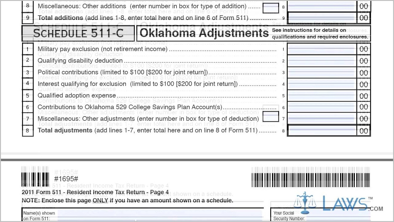 Oklahoma 1040ez Tax Form