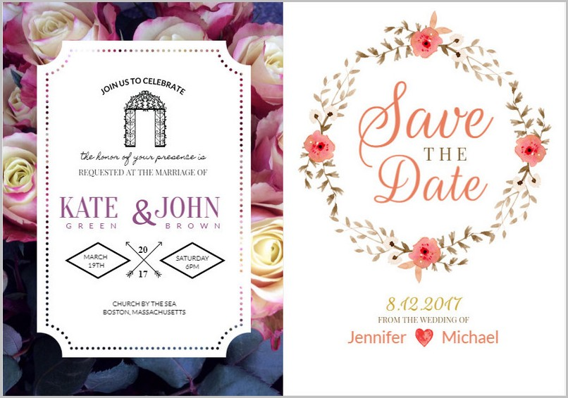 Online Wedding Invitation Design Templates Free