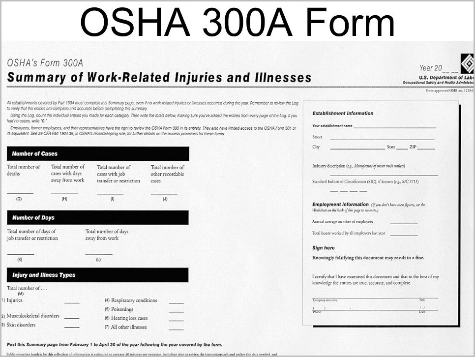Osha Form 300a Annual Average Number Of Employees