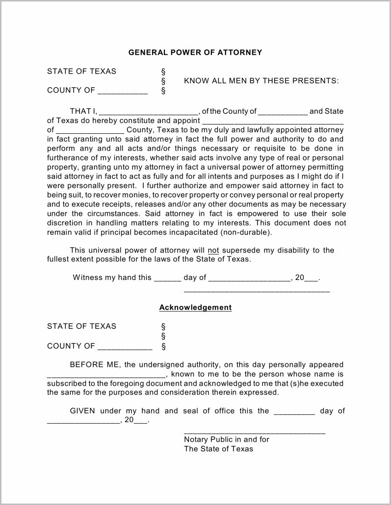 Power Of Attorney Acknowledgement Form Pennsylvania