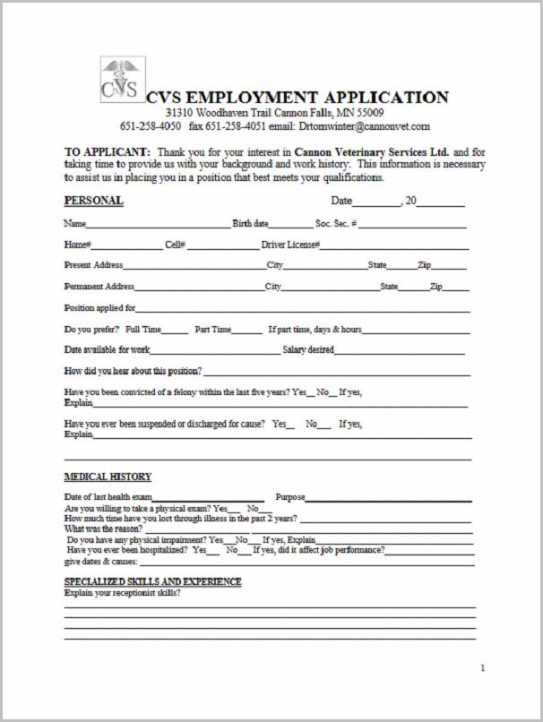 Printable Job Application Form For Goodwill