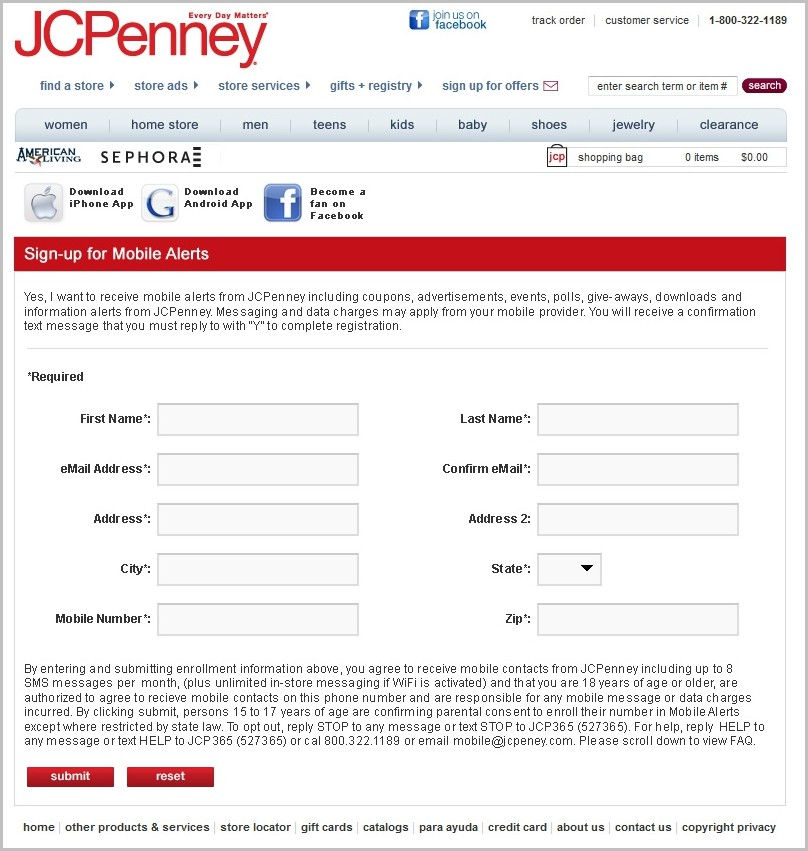 Printable Job Application Form For Jcpenney
