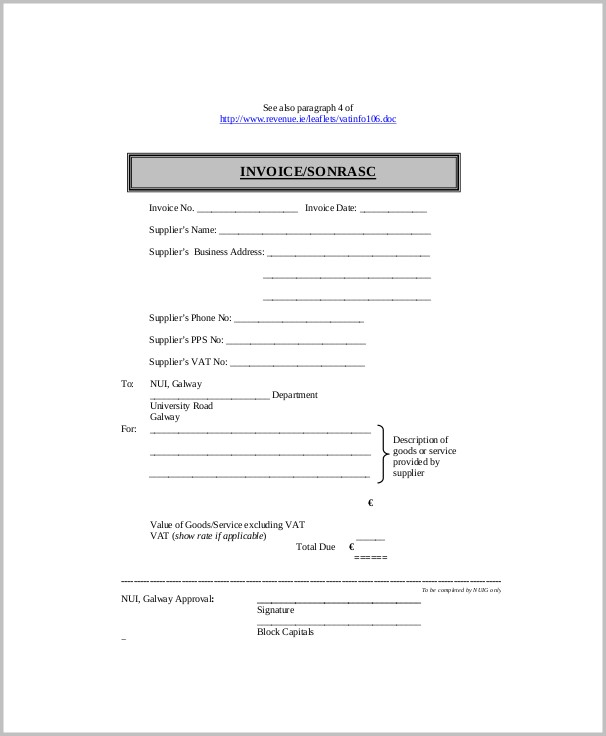 Profit And Loss Statement Blank Form