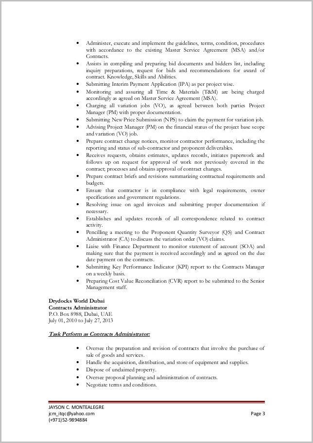 Resume And Cover Letter In One File