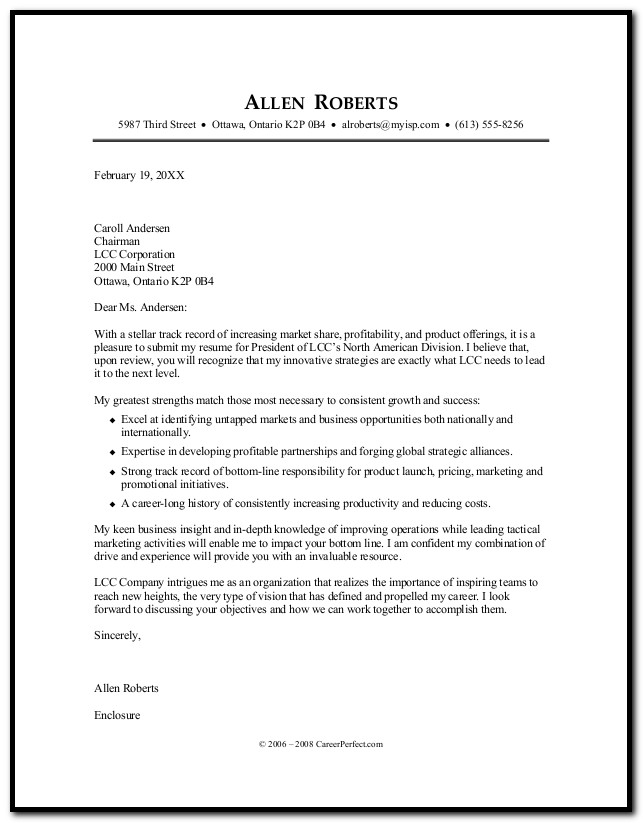 Resume Cover Letter Career Builder