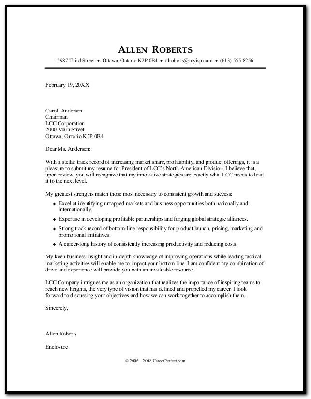 Resume Cover Letter Career Builder