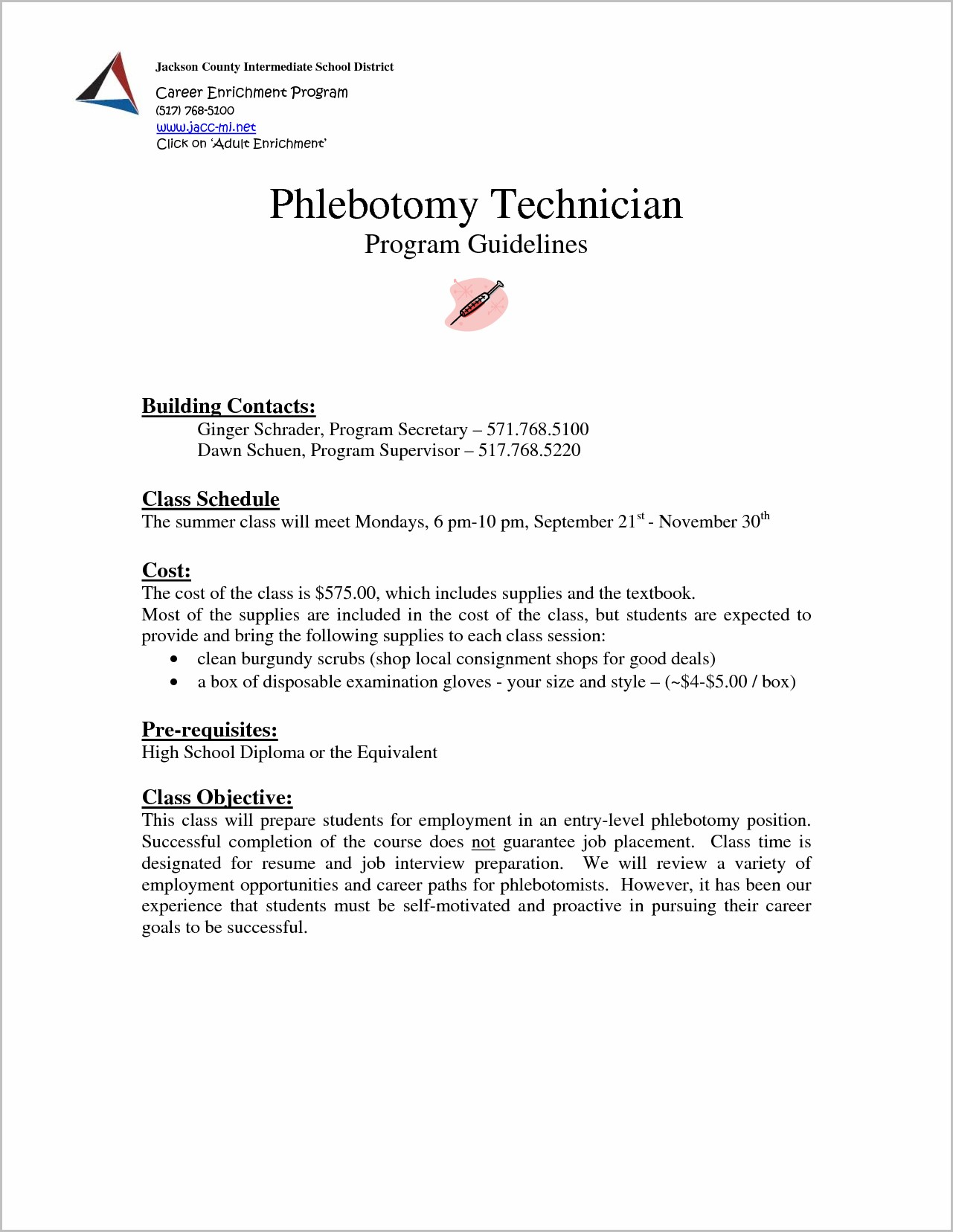 Resume Cover Letter Samples For Phlebotomists