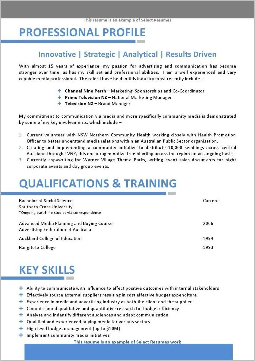 Resume Template Microsoft Word Australia