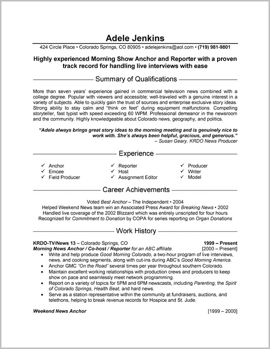 Resume Templates For Microsoft Word With Photo
