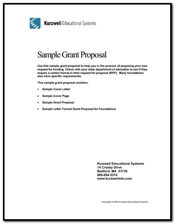 Sample Of A Cover Letter For A Grant Proposal