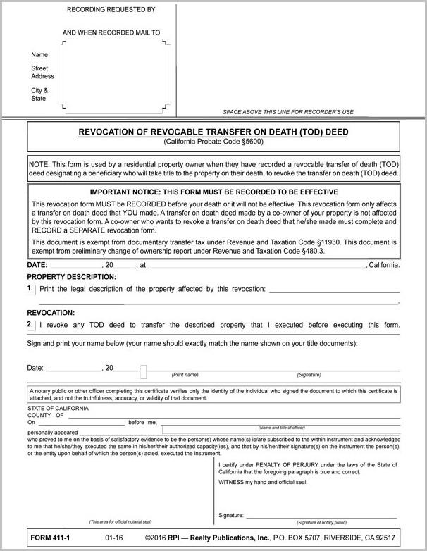 Santa Barbara County Grant Deed Form