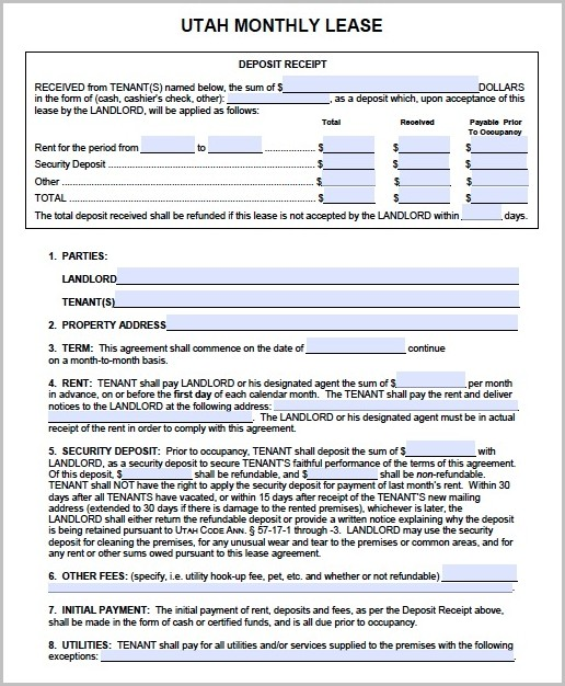 Utah Notice Of Eviction Form