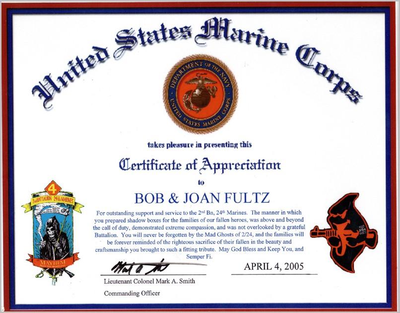 Veteran Certificate Of Appreciation Template Free