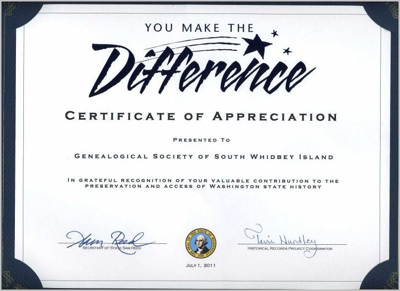 Volunteer Certificate Of Appreciation Template Free