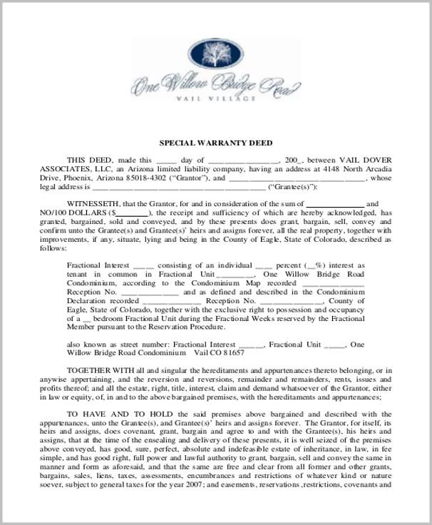 Warranty Deed Form Arizona