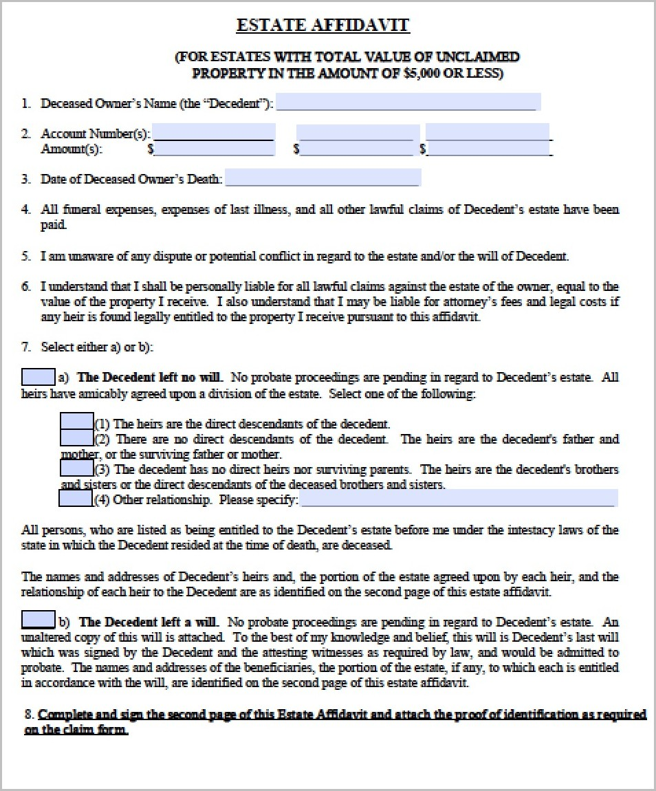Warranty Deed Form For Florida