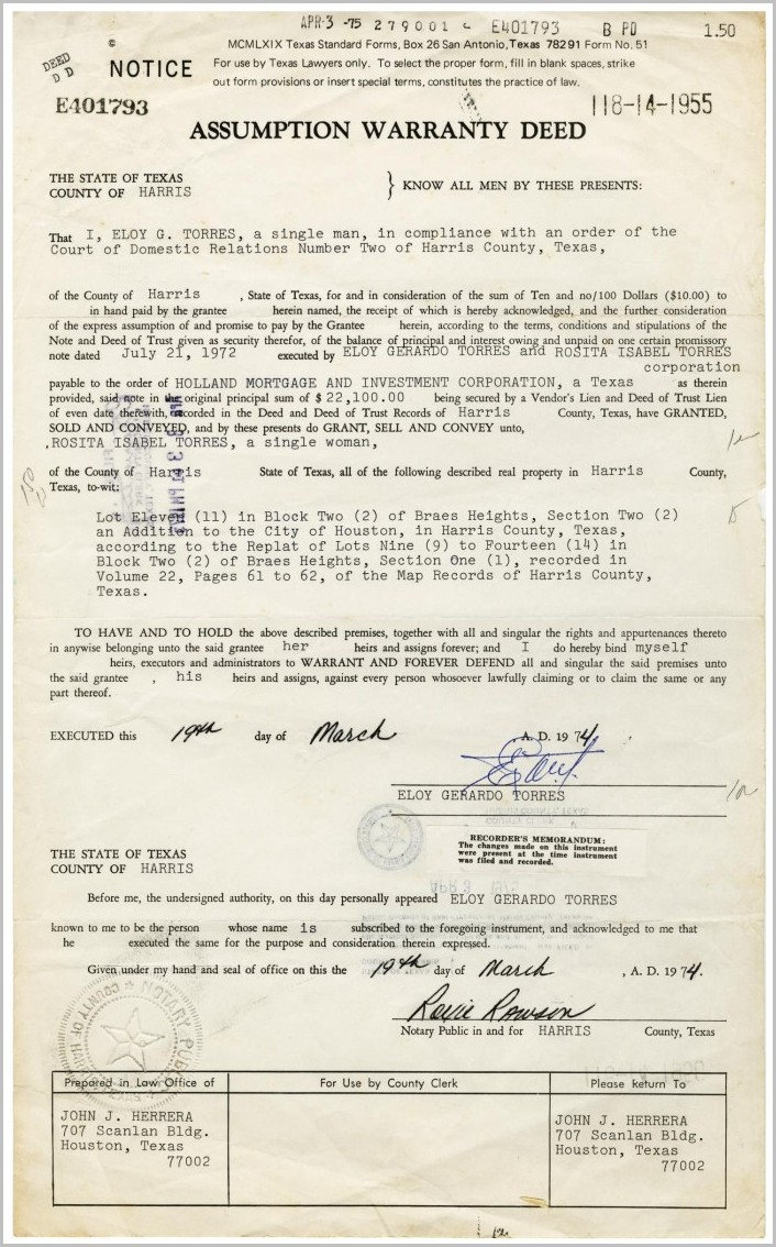 Warranty Deed Form Harris County