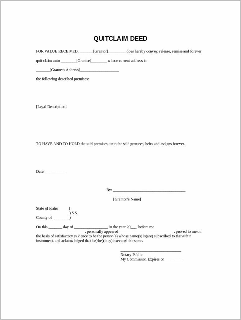 Warranty Deed Form Idaho
