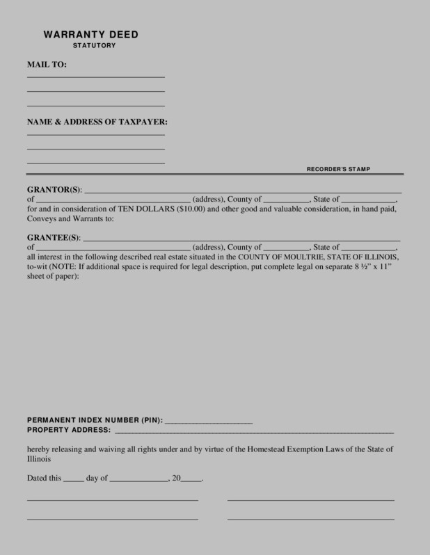 Warranty Deed Form Oklahoma