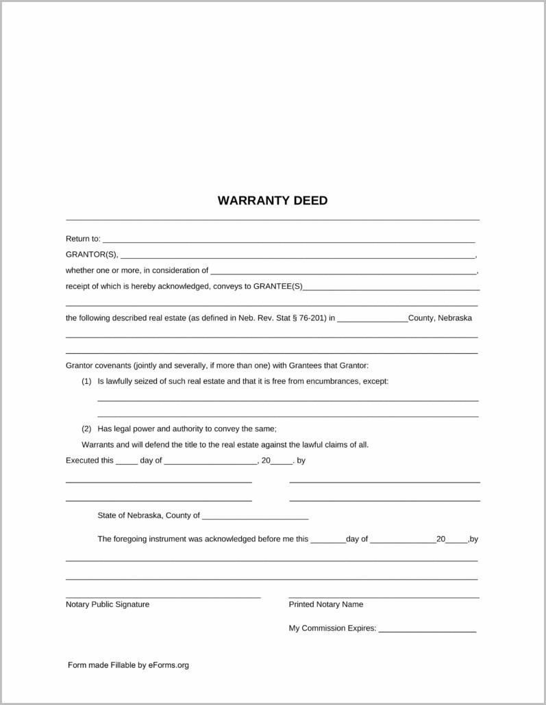 Warranty Deed Form Wisconsin