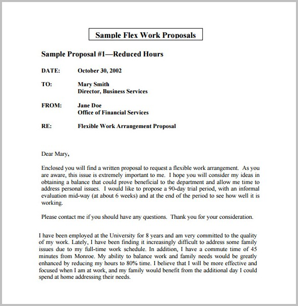 Work Schedule Proposal Template