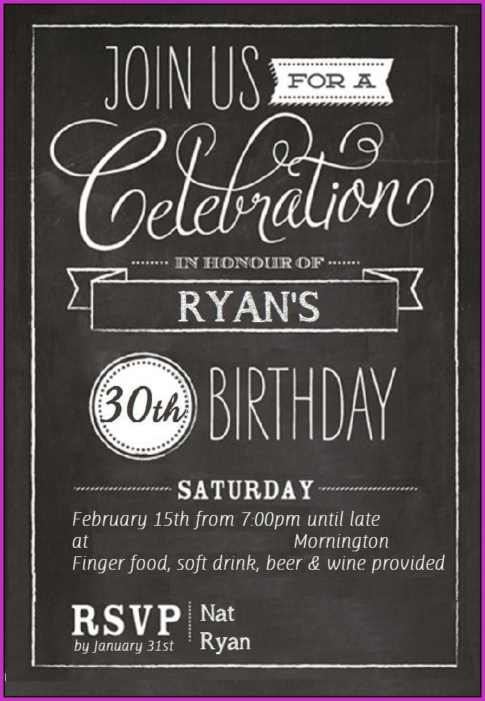31st Birthday Invitation Templates