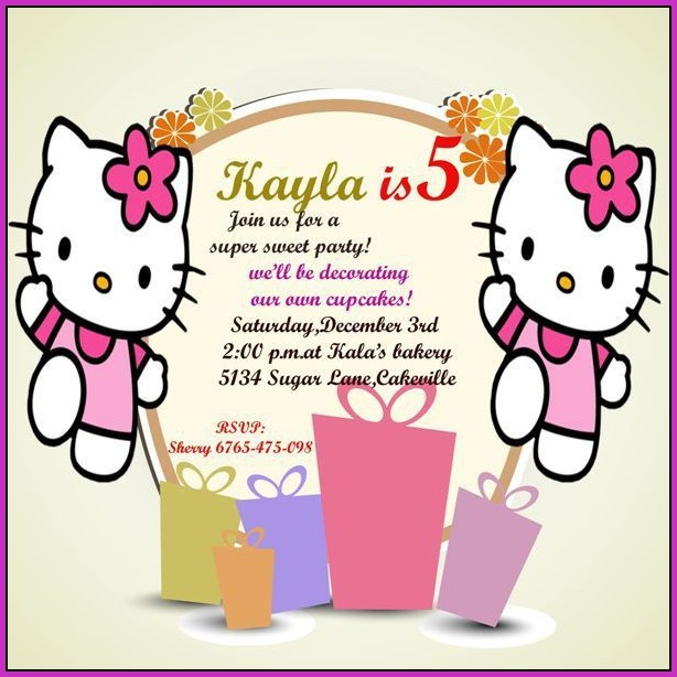 5th Birthday Invitation Templatesb