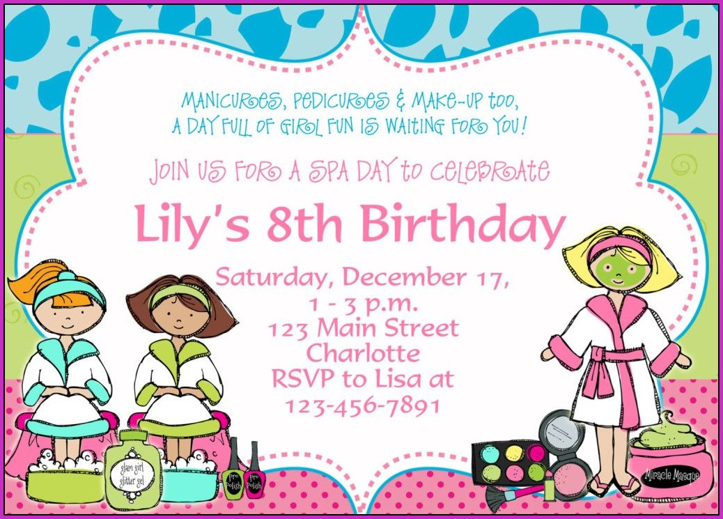 8th Birthday Invitation Templates