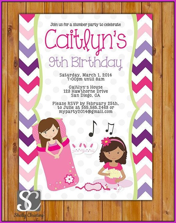 9th Birthday Invitation Templates