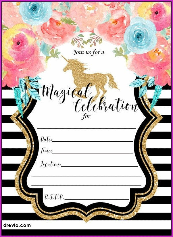 9th Birthday Party Invitation Templates